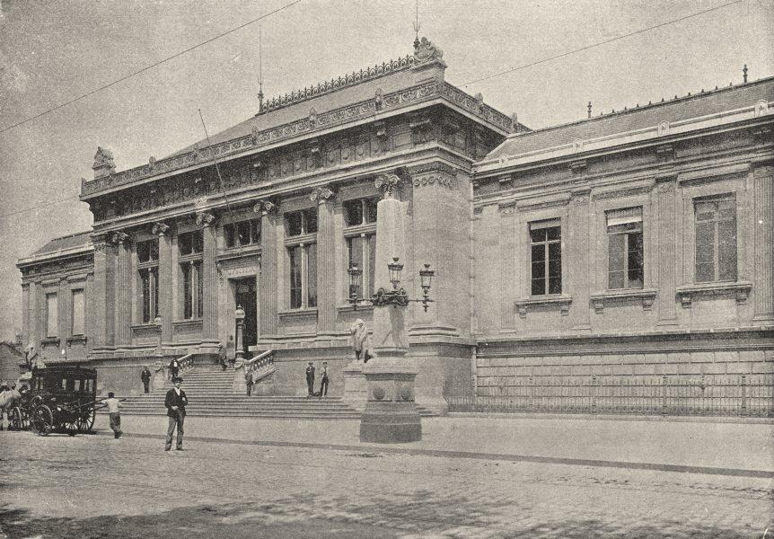 Associate Product SEINE- MARITIME. Le Havre Palais de Justice 1895 old antique print picture