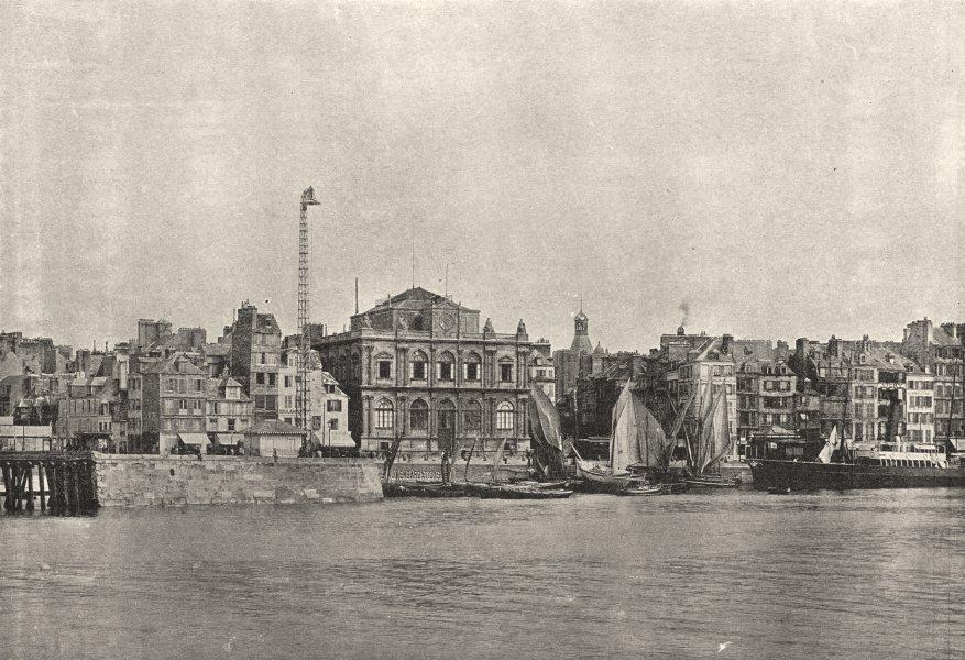 Associate Product SEINE- MARITIME. Le Havre. Musée Quai 1895 old antique vintage print picture