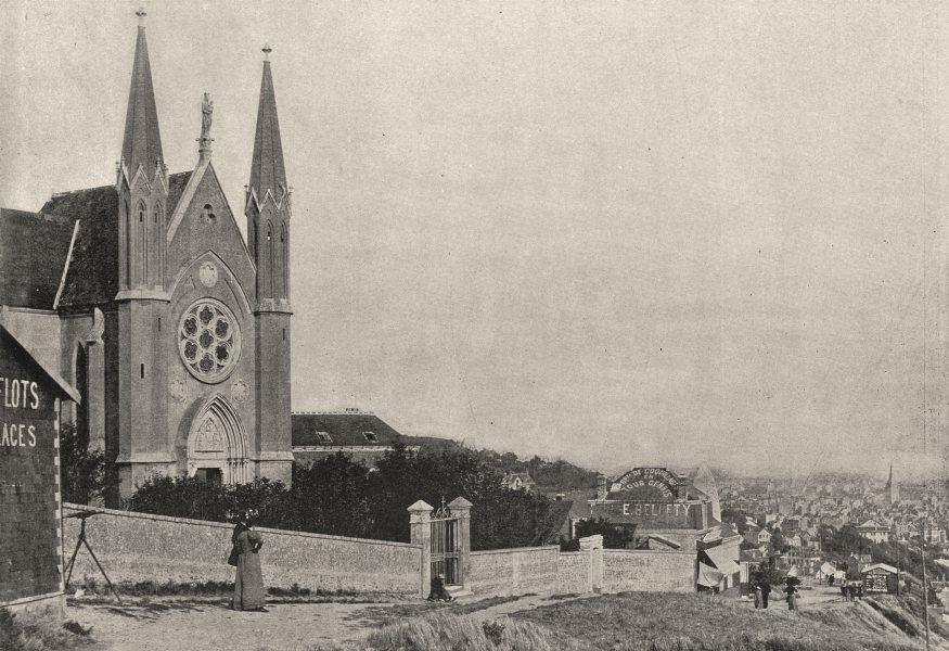 Associate Product SEINE- MARITIME. Le Havre. Notre- dame des Flots a Ste- Adresse 1895 old print
