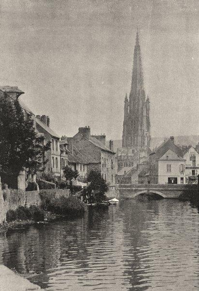 Associate Product SEINE- MARITIME. Harfleur 1895 old antique vintage print picture