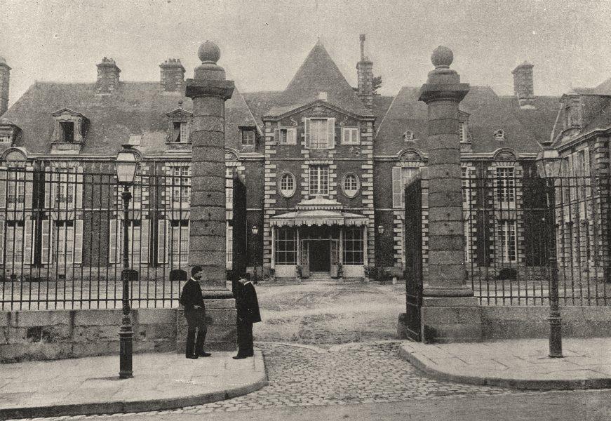 Associate Product ORNE. Alençon. Préfecture 1895 old antique vintage print picture