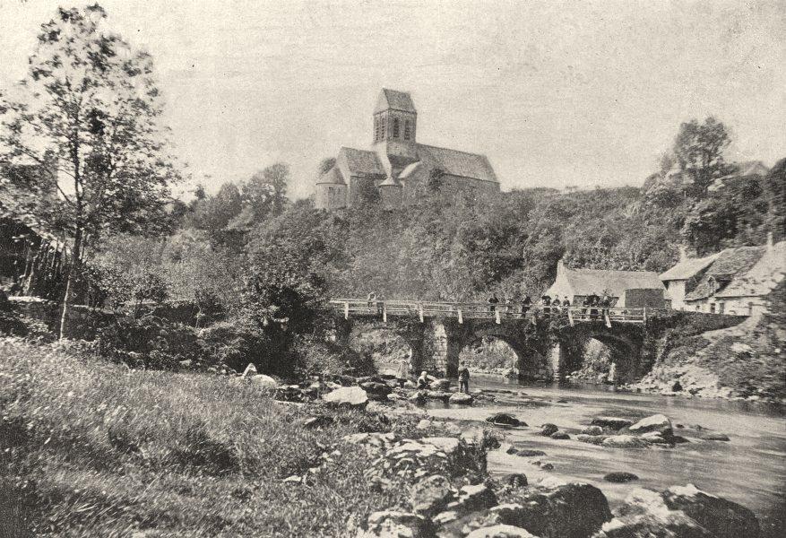 Associate Product SARTHE. Aux area D'Alençon 1895 old antique vintage print picture