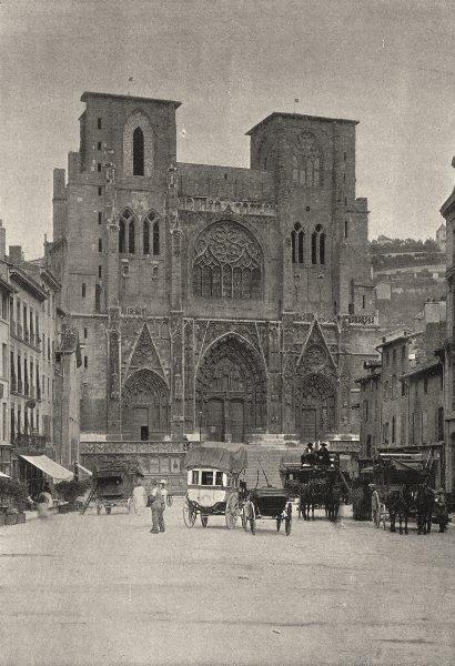 Associate Product FRANCE. Vienne. Cathédrale St- Maurice 1895 old antique vintage print picture
