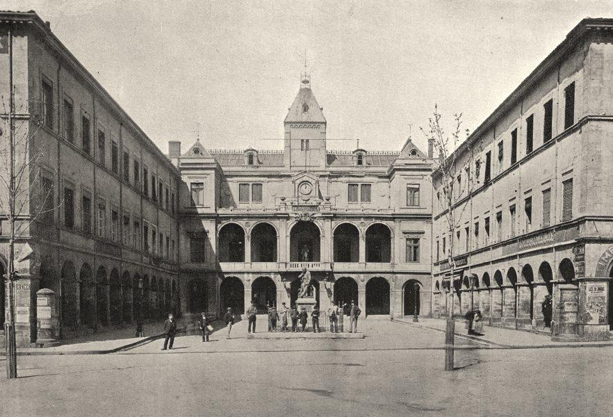 Associate Product FRANCE. Vienne. Grande Place 1895 old antique vintage print picture