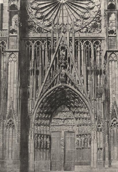 Associate Product BAS- RHIN. Strasbourg. Portail de Cathédrale 1895 old antique print picture