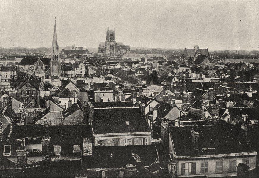 Associate Product AUBE. Troyes. générale 1895 old antique vintage print picture
