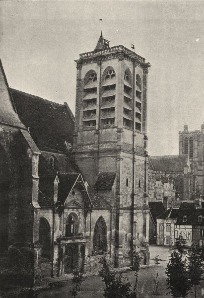 Associate Product AUBE. Troyes. St- Nizier 1895 old antique vintage print picture
