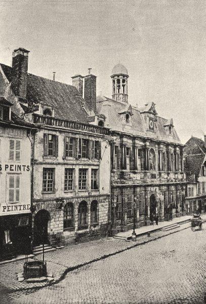 Associate Product AUBE. Troyes. Hotel de Ville 1895 old antique vintage print picture