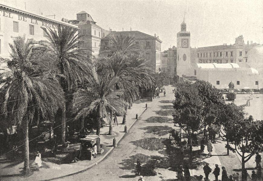 ALGERIA. Algiers (Alger) . Place du Gouvernement. Mosquée de Pêcherie 1895