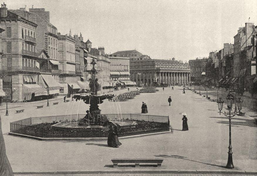 GIRONDE. Bordeaux. Allees de Tourny 1895 old antique vintage print picture