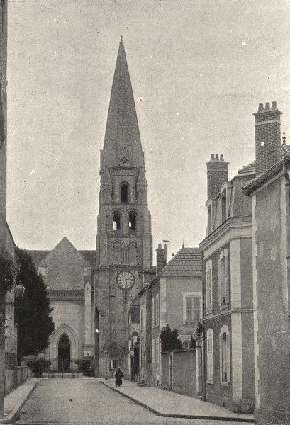 Associate Product YONNE. Auxerre. Tour de St- Germain 1895 old antique vintage print picture