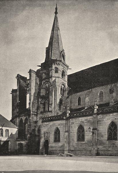 Associate Product YONNE. Auxerre. St- Eusèbe 1895 old antique vintage print picture