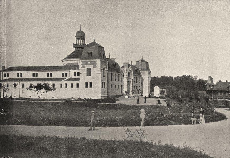Associate Product JURA. Lons- le- Saulnier. Etablissement Thermal 1895 old antique print picture