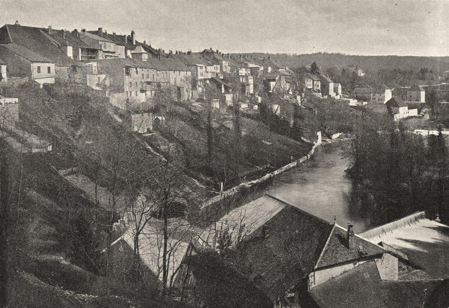 Associate Product JURA. Champagnole. générale 1895 old antique vintage print picture