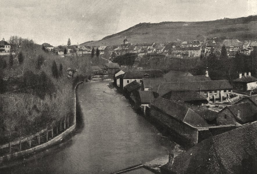 Associate Product JURA. Champagnole. L'Ain Forges 1895 old antique vintage print picture