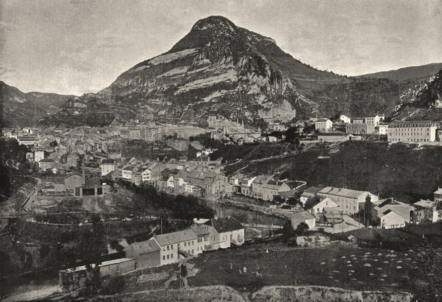 Associate Product FRANCE. St- Claude. générale 1895 old antique vintage print picture