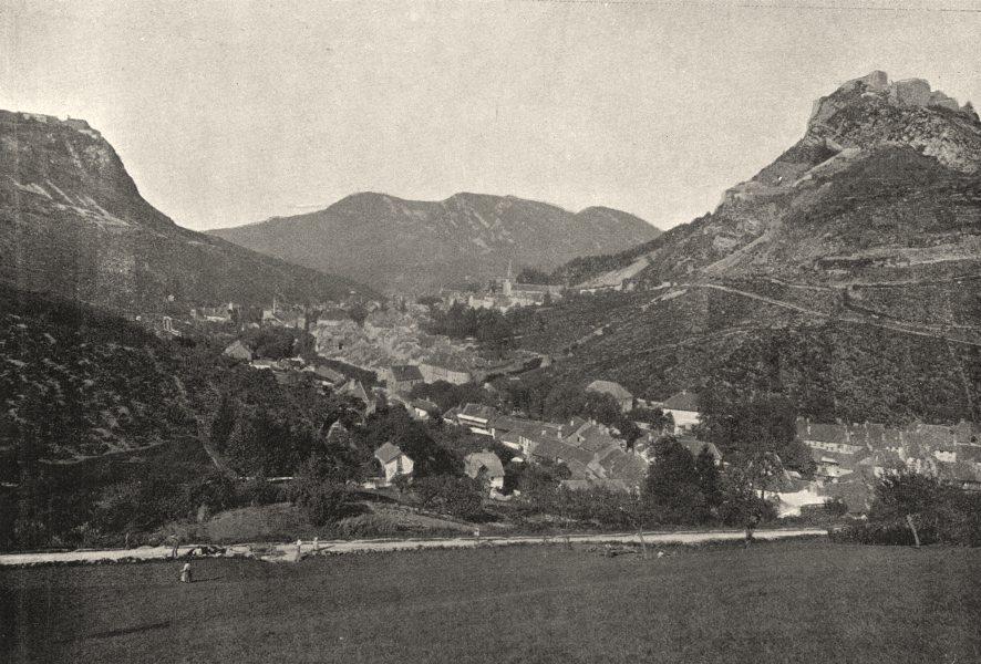 Associate Product JURA. Salins. générale 1895 old antique vintage print picture