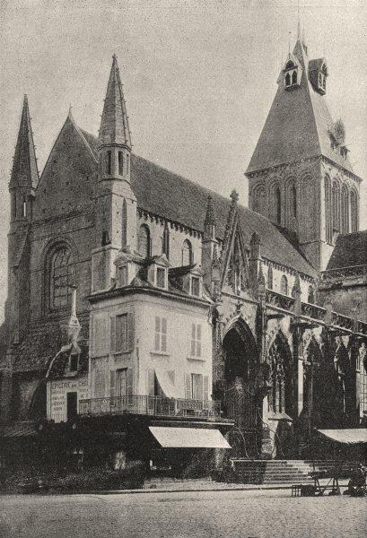Associate Product FRANCE. Falaise. Eglise de Trinité 1895 old antique vintage print picture