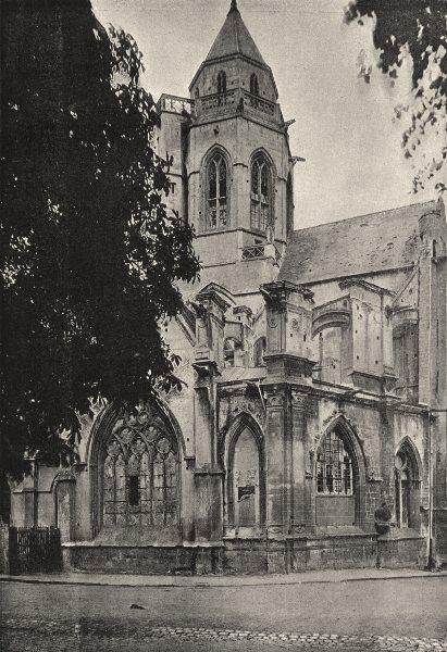 Associate Product CALVADOS. Caen. St- Etienne- le- Vieux 1895 old antique vintage print picture