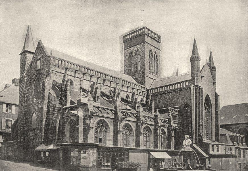 Associate Product CALVADOS. Vire. Eglise 1895 old antique vintage print picture