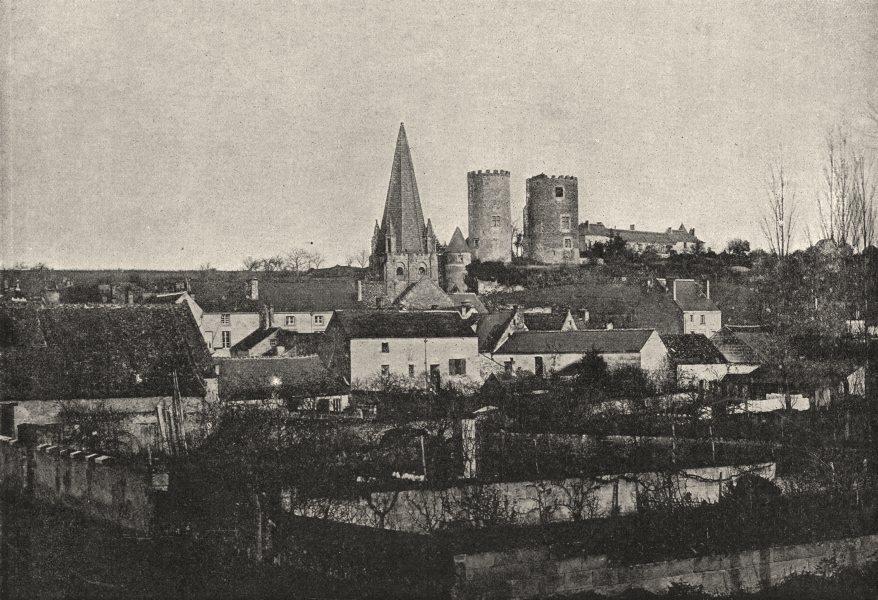 Associate Product INDRE- ET- LOIRE. Cinq- Mars- la- Pile. générale 1895 old antique print