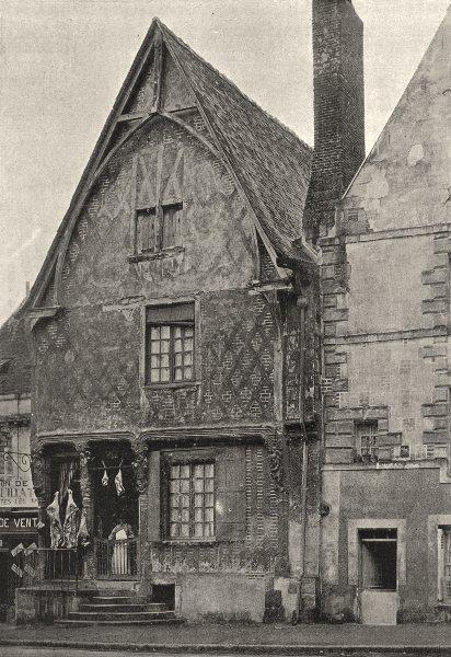 Associate Product FRANCE. Luynes. Maisons sur place 1895 old antique vintage print picture