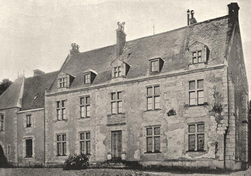 Associate Product CHARENTE. MXVIII- Couture. Chateau de Ronsard 1895 old antique print picture