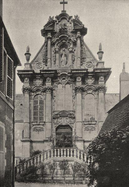 Associate Product NIÈVRE. Nevers. Eglise Ste- Marie 1895 old antique vintage print picture