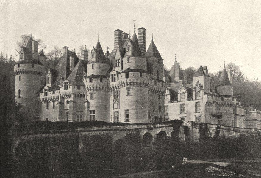 Associate Product INDRE- ET- LOIRE. Ussé. Chateau 1895 old antique vintage print picture