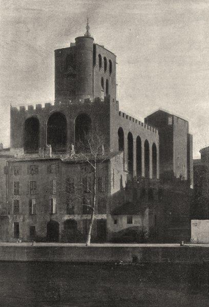 Associate Product HÉRAULT. Agde. Ancienne Cathédrale 1895 old antique vintage print picture