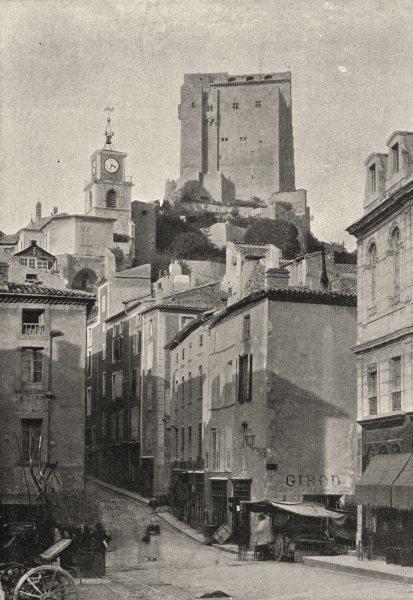 FRANCE. Crest. Tour 1895 old antique vintage print picture