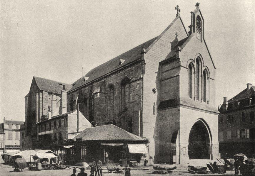 Associate Product CORRÈZE. Brives. Eglise St- Martin 1895 old antique vintage print picture