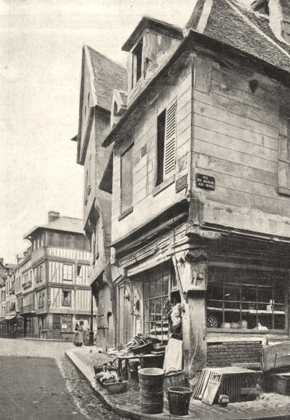Associate Product EURE. Louviers. Vieilles Maisons 1895 old antique vintage print picture