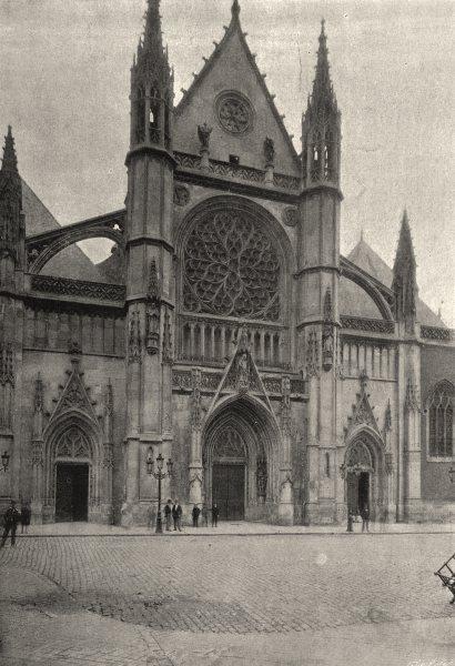 NORD. Dunkerque. St- Eloi 1895 old antique vintage print picture