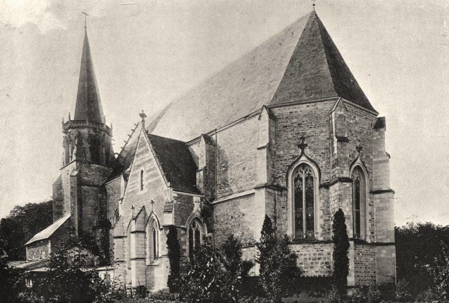 VIENNE. Ligugé. Abbaye 1895 old antique vintage print picture