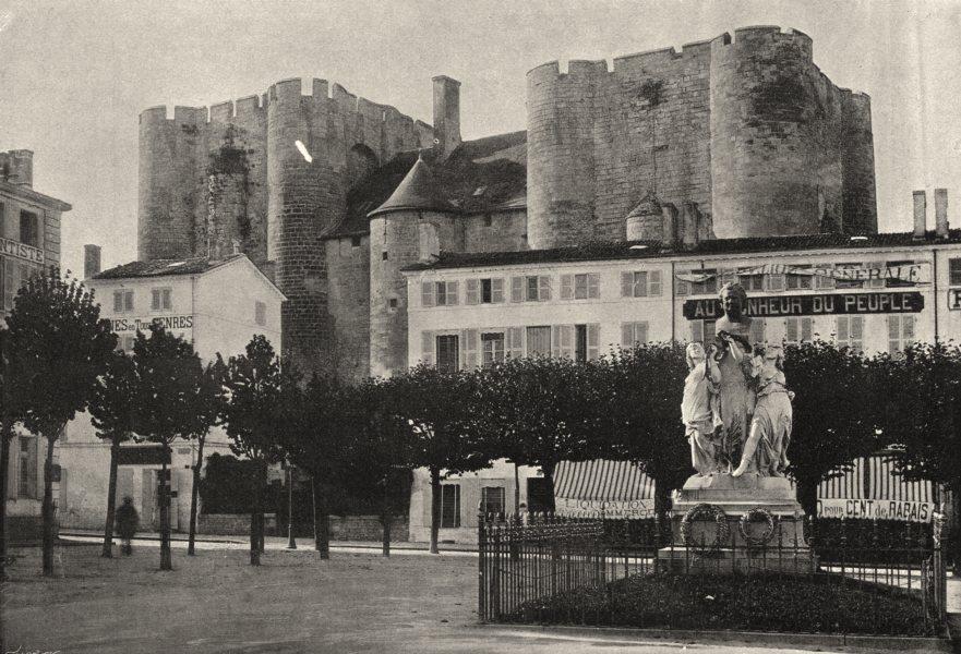 Associate Product DEUX- SÈVRES. Niort. Chateau 1895 old antique vintage print picture