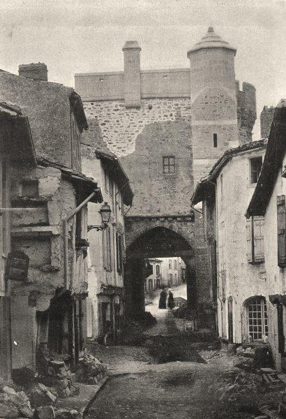 Associate Product DEUX- SÈVRES. Parthenay. Porte St- Jacques 1895 old antique print picture