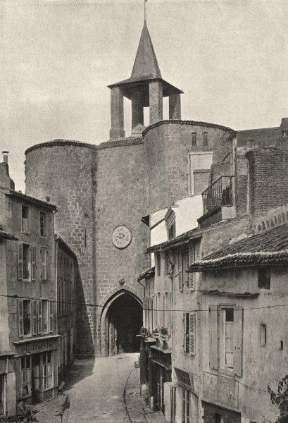 Associate Product DEUX- SÈVRES. Pl. MLCIX- Parthenay. Porte de Ville 1895 old antique print