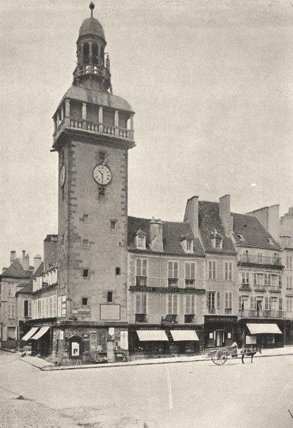 Associate Product FRANCE. Moulins. Beffroi 1895 old antique vintage print picture
