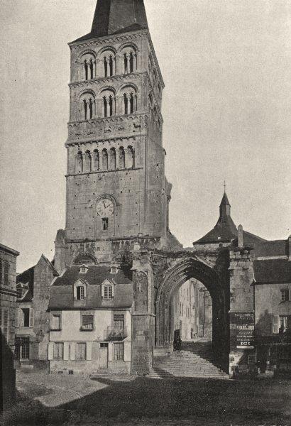 Associate Product NIÈVRE. Charite- sur- Loire. Ancienne Abbaye 1895 old antique print picture