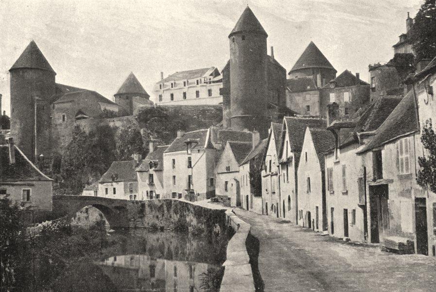 Associate Product FRANCE. Semur. générale 1895 old antique vintage print picture