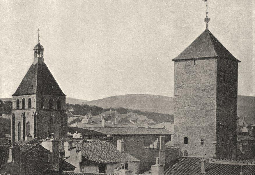 Associate Product SAÔNE- ET- LOIRE. Cluny. Norte- dame 1895 old antique vintage print picture