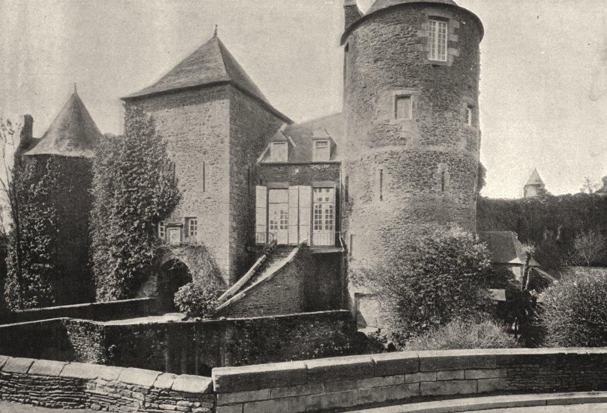Associate Product ILLE- ET- VILAINE. Fougères. Entrée du Chateau 1895 old antique print picture