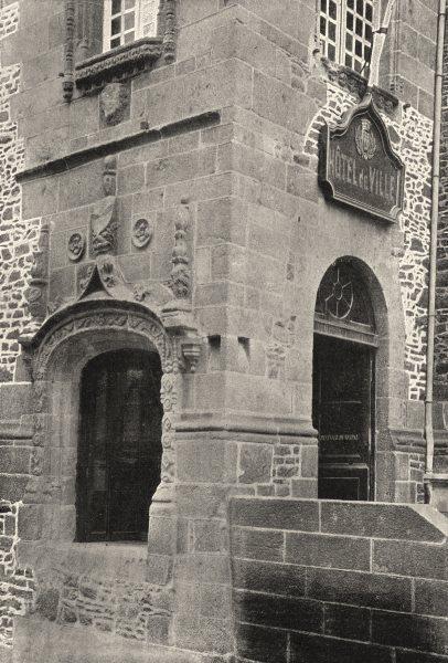 Associate Product ILLE- ET- VILAINE. Fougères. Hotel de Ville 1895 old antique print picture
