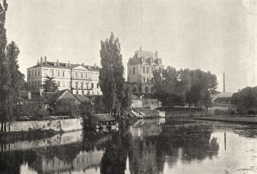 INDRE. Chateauroux. Préfecture Chateau Raoul 1895 old antique print picture