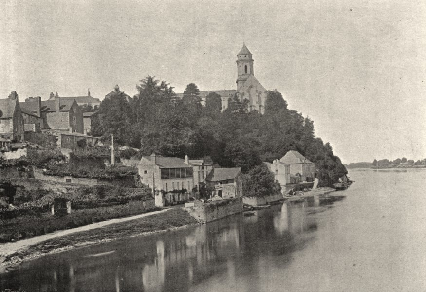 Associate Product MAINE- ET- LOIRE. St- florent- le- vieil 1895 old antique print picture