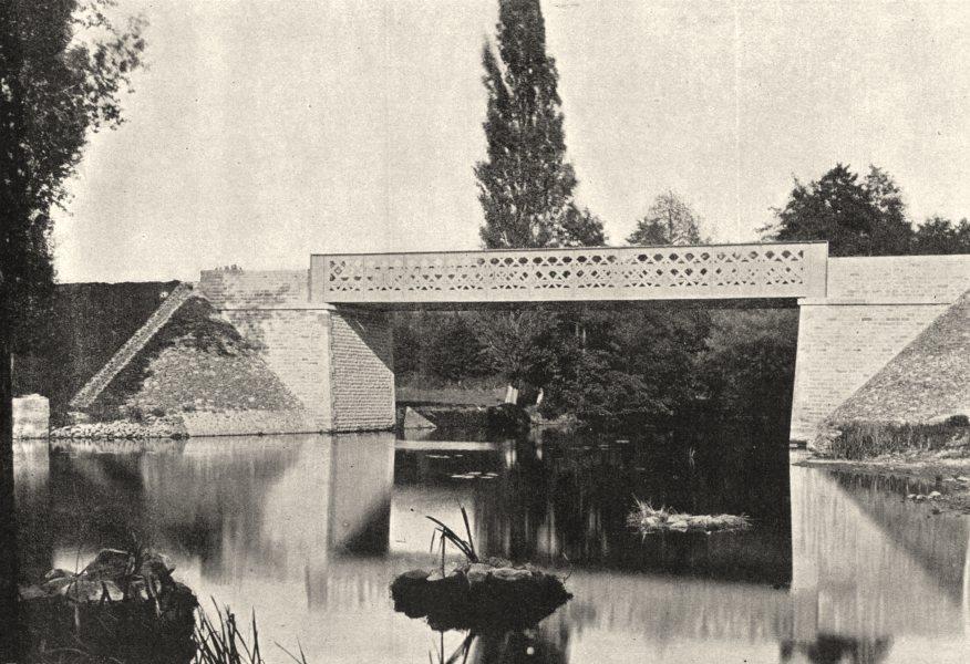 Associate Product MAINE- ET- LOIRE. St- Lambert- du- Lattay. Pont Vesigon 1895 old antique print