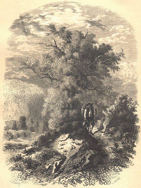 Associate Product LANDSCAPES. Lisière de Bois 1852 old antique vintage print picture