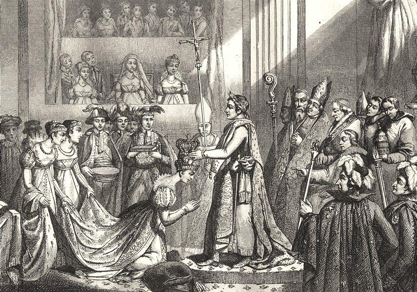 Associate Product FRANCE. Couronnement De Napoléon 2 Décembre 1804 1835 old antique print