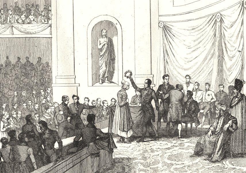 Associate Product FRANCE. Le Prix de Vertu 1835 old antique vintage print picture